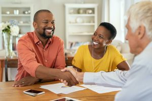 Couple with Insurance Broker